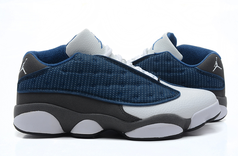 New Arrival Jordan 13 Low Blue White Grey Shoes