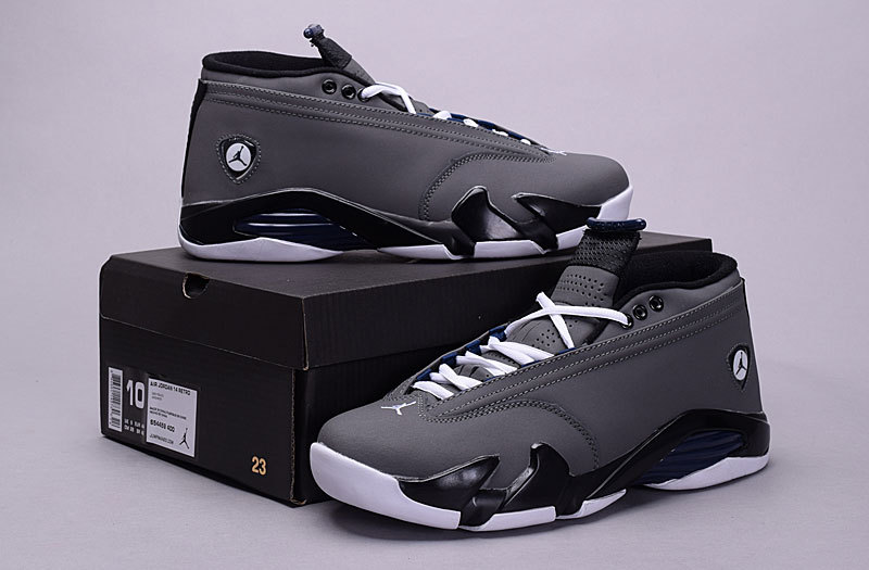 Air Jordan 14 Low 30th Grey Black White Shoes