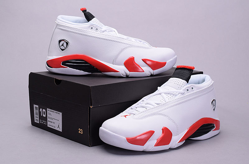 Air Jordan 14 Low 30th White Red Shoes