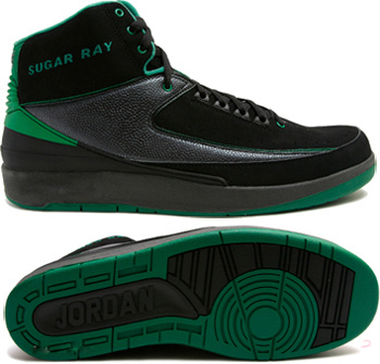 Jordan 2 Retro Black Green Chrome
