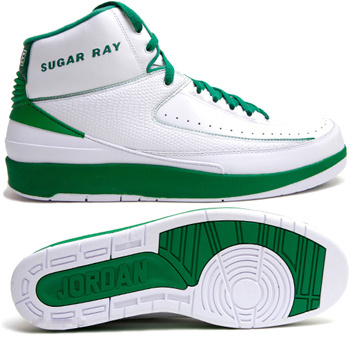 Jordan 2 Retro White Green Chrome