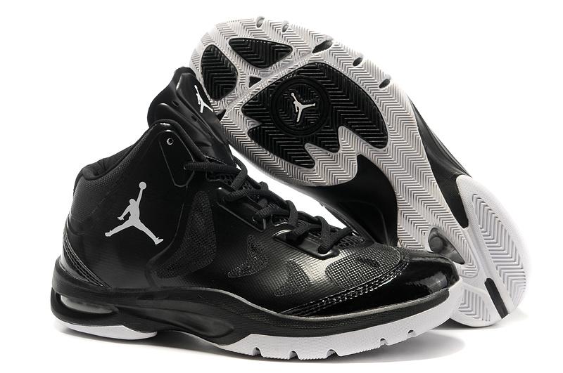 2012 Olympic Jordan Shoes Black White Logo