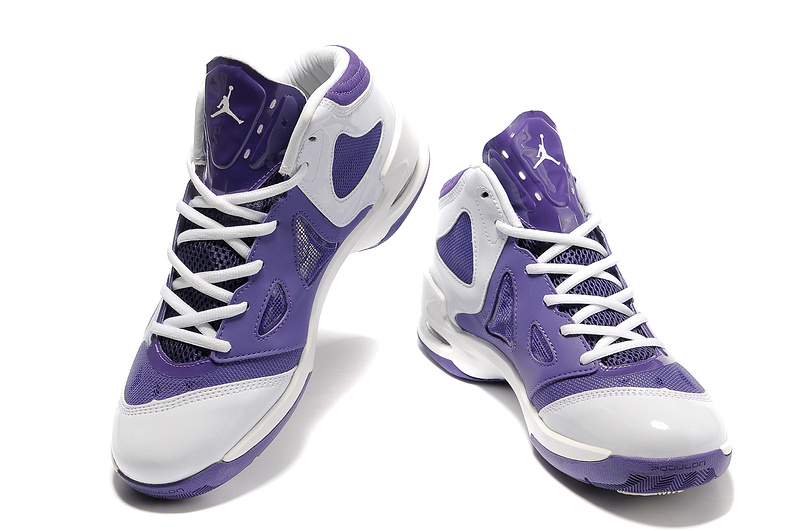 2012 Olympic Jordan Shoes Purple White