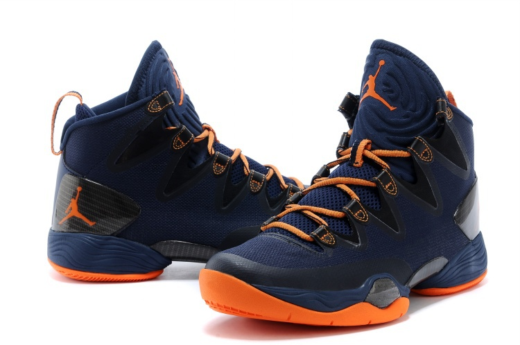 Air Jordan 28 SE Dark Blue Orange Shoes