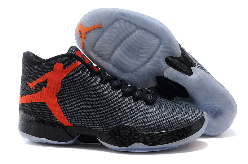 Air Jordan 29 Black Orange Jumpman Logo Shoes