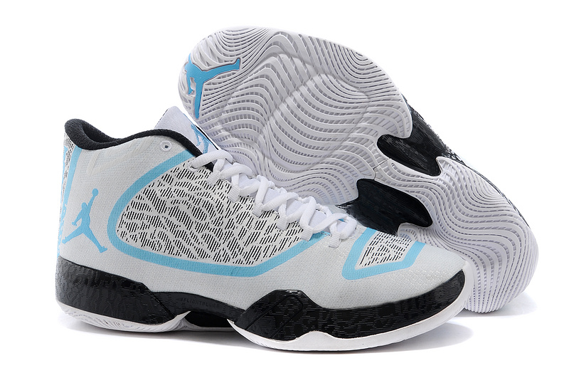 Air Jordan 29 White Baby Blue Black Shoes