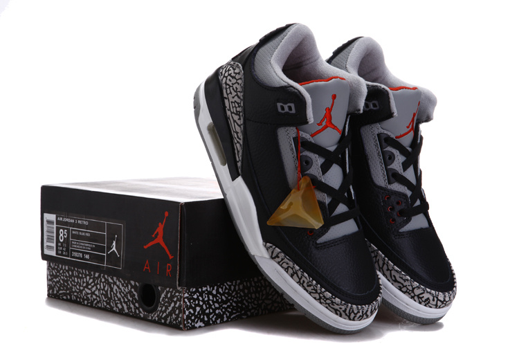 Air Jordan 3 Chalcedoney Edition Black Grey Cement