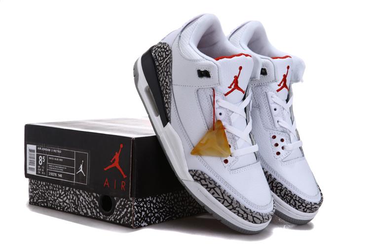 Air Jordan 3 Chalcedoney Edition White Grey