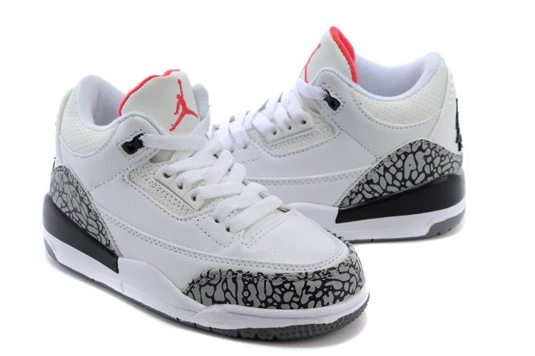 Kids-Jordan-3-White-Wolf-Grey-Shoes