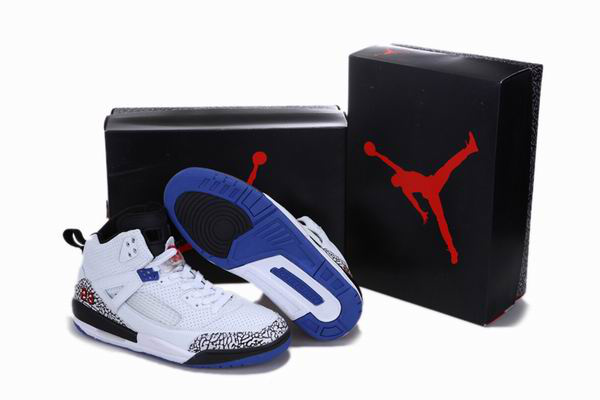 2012 Air Jordan 3.5 Reissue White Black Blue Cement Shoes