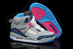 Air Jordan 3.5 Spizike Grey Blue Pink For Kids
