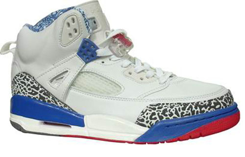 Air Jordan Shoes 3.5 White Blue Red