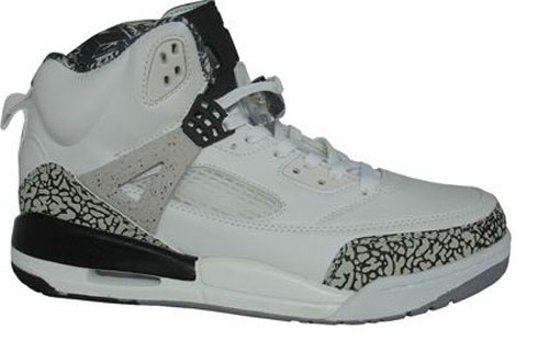 Air Jordan Shoes 3.5 White Grey Black
