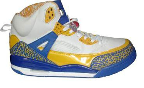 Air Jordan Shoes 3.5 White Yellow Blue