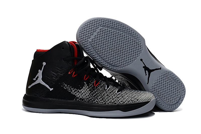 Air Jordan 31 Black Grey Red Shoes