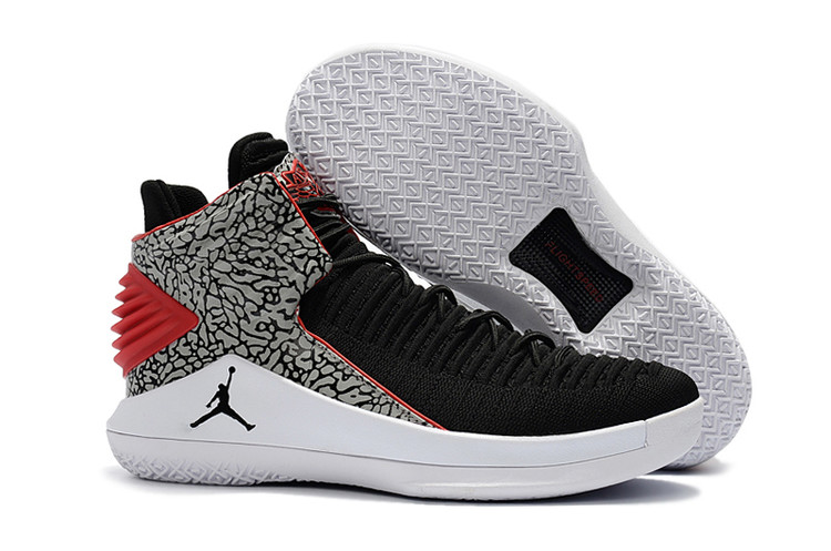 Air Jordan 32 Black Cement Grey Red Shoes
