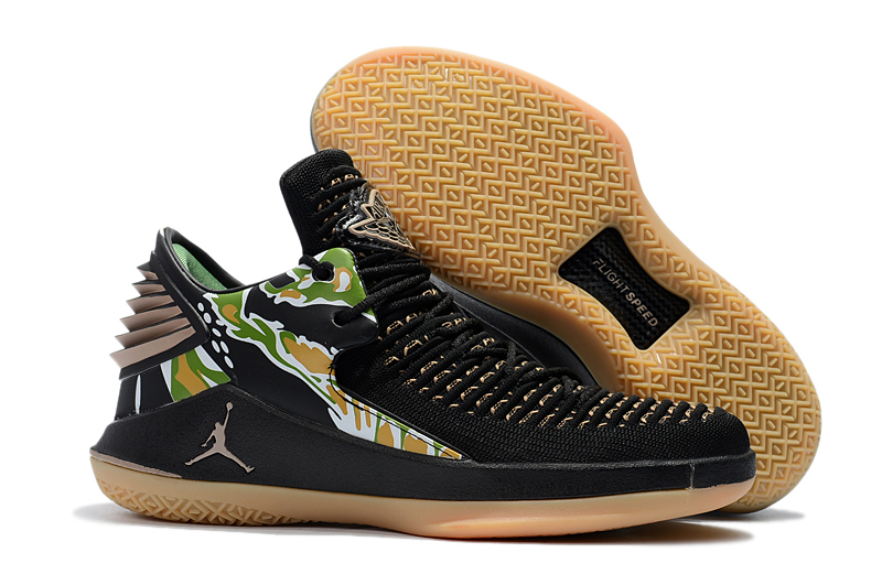 Air Jordan 32 Black Yellow Green Shoes