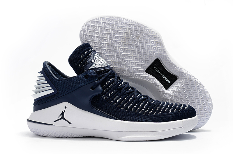 Air Jordan 32 Deep Blue White Shoes