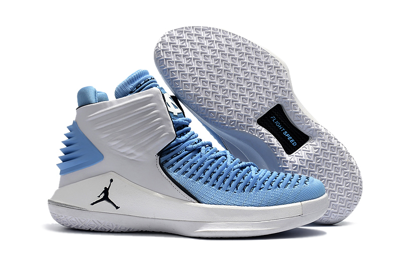 Air Jordan 32 Light Blue Silver Shoes