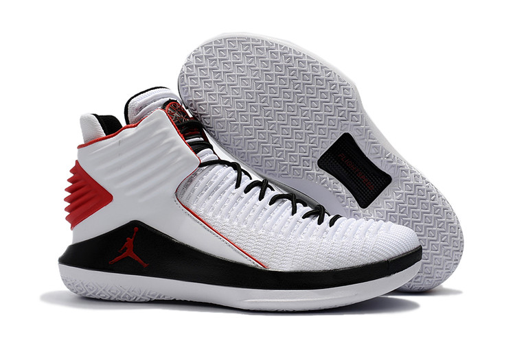 Air Jordan 32 White Black Red Shoes