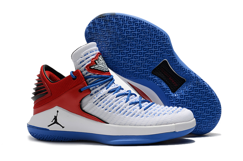 Air Jordan 32 White Red Blue Shoes