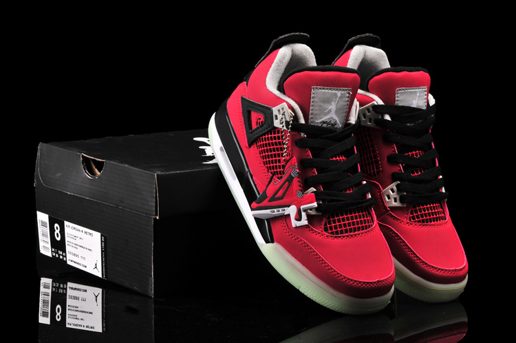 New Arrival Jordan 4 Midnigh Red Black For Women