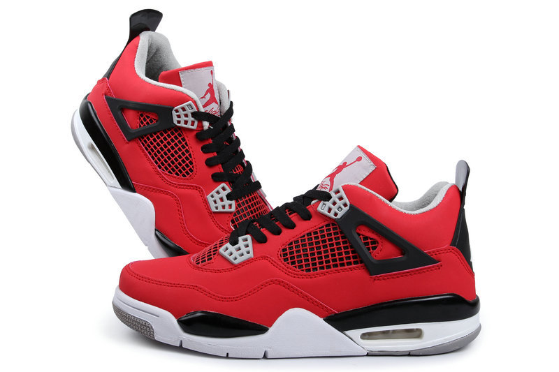 air jordan 4 red and black