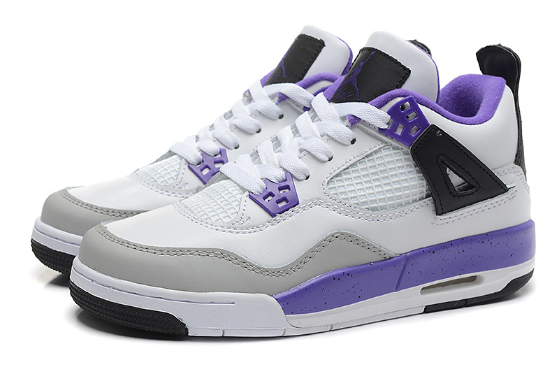 Air Jordan 4 Retro White Purple For Women