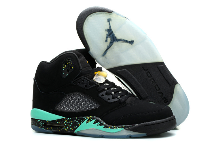Air Jordan 5 World Cup Brazil Black Blue Shoes