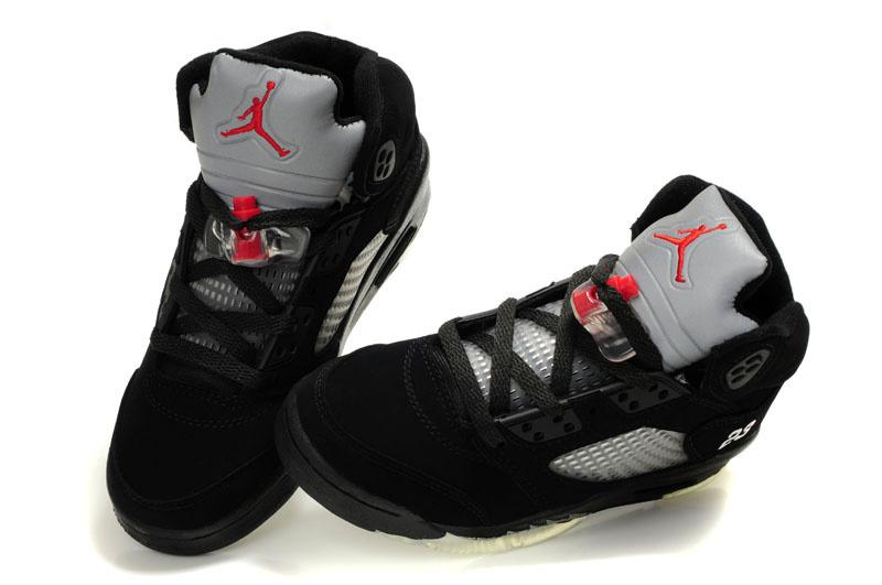 Jordan 5 Retro Black Grey Shoes