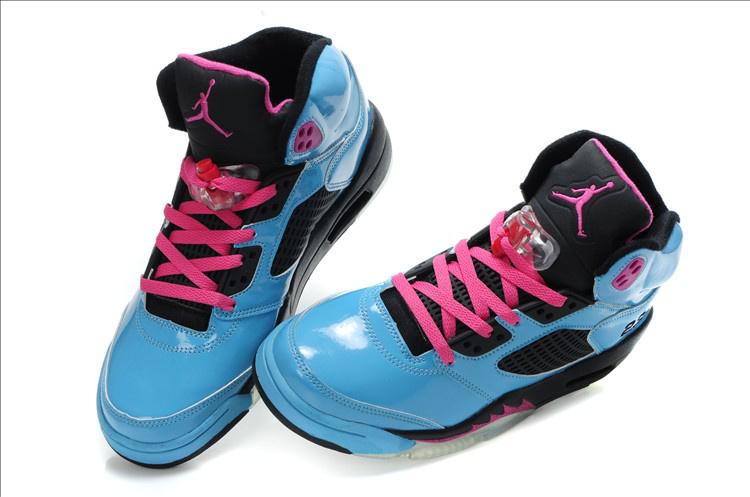 Jordan 5 Retro Blue Black Shoes