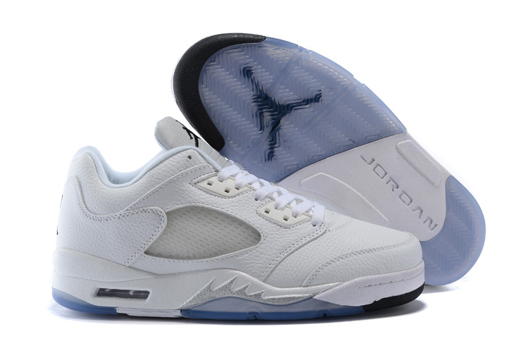 Air Jordan 5 Low All White Shoes