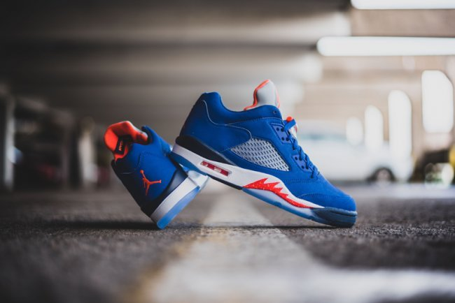 Air Jordan 5 Low Cavs Blue Red White Shoes