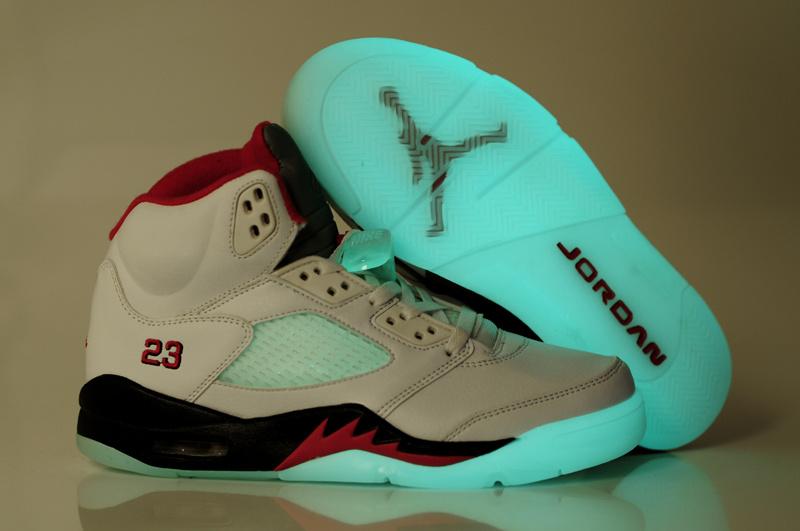 Midnight Air Jordan 5 White Red