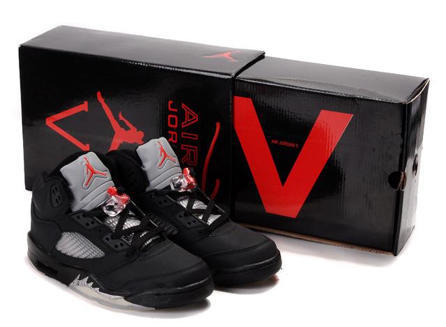 Air Jordan 5 Hardcover Box Black White Red