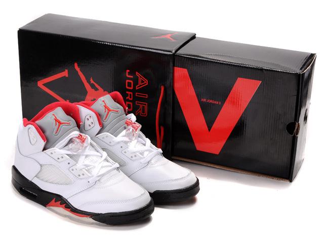 Air Jordan 5 Hardcover Box White Black Red