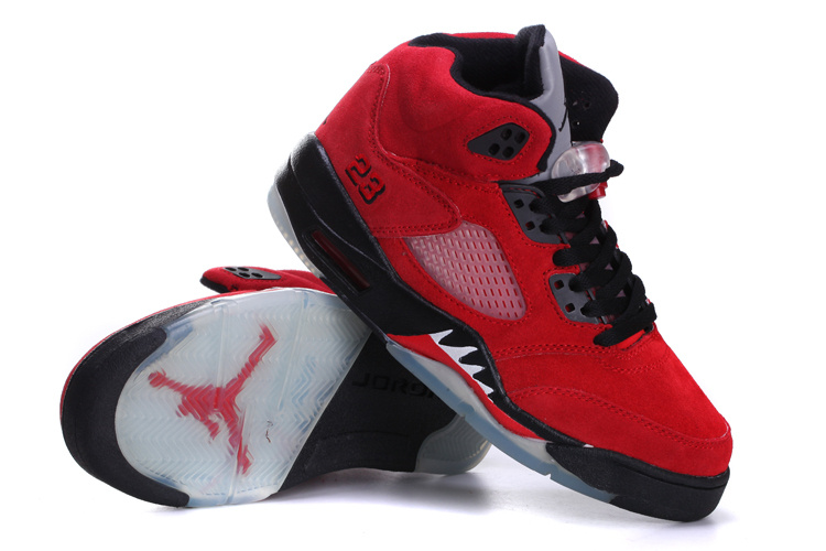 Air Jordan 5 Suede Red Black For Women