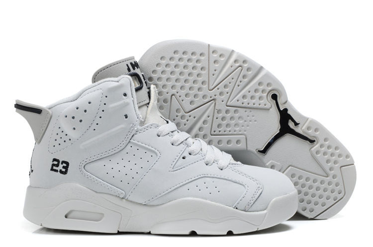 Air Jordan 6 All White For Kids