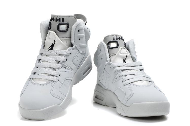 Air Jordan 6 All White For Kids Air Jordan 6 All White For Kids