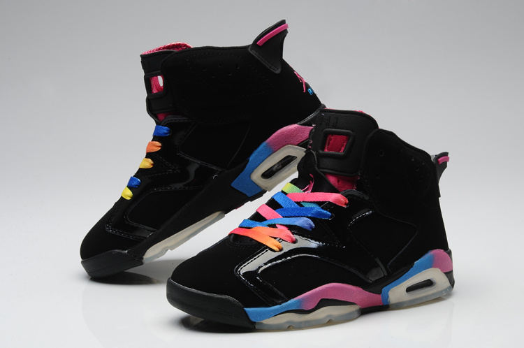 New Arrival Jordan 6 Colorful Black For Women