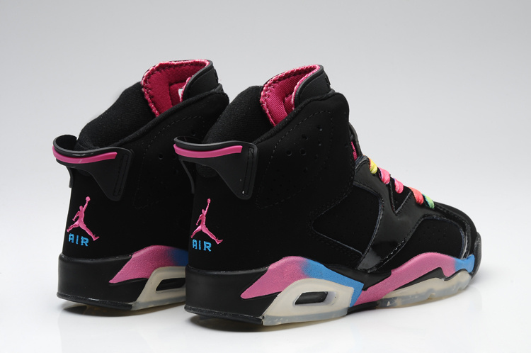 New Arrival Jordan 6 Colorful Black For Women Jordans172