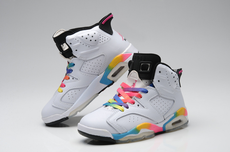 New Arrival Jordan 6 Colorful White For Women