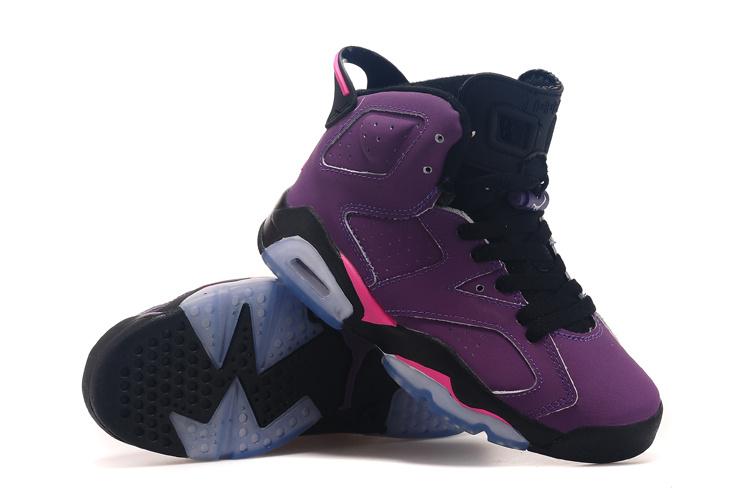 Air Jordan 6 Grape Black Shoes For Women