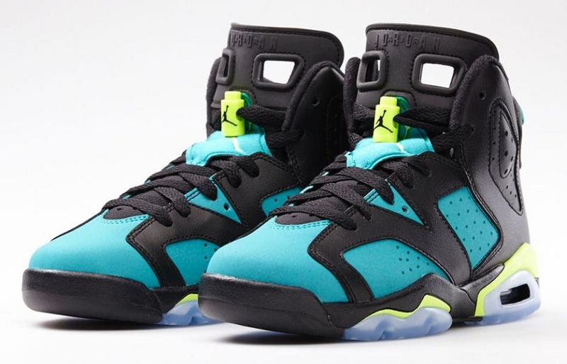 Air Jordan 6 Of Braizl World Cup GS Turbo Green Black For Women