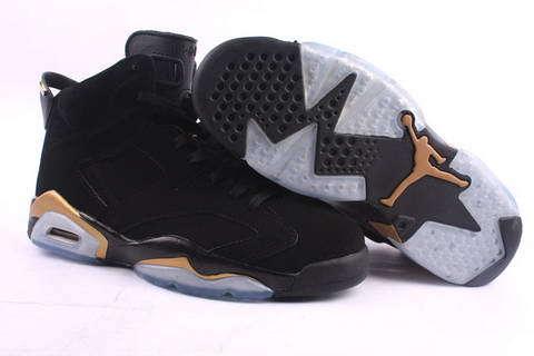 Air Jordan 6 og Black-Gold Shoes