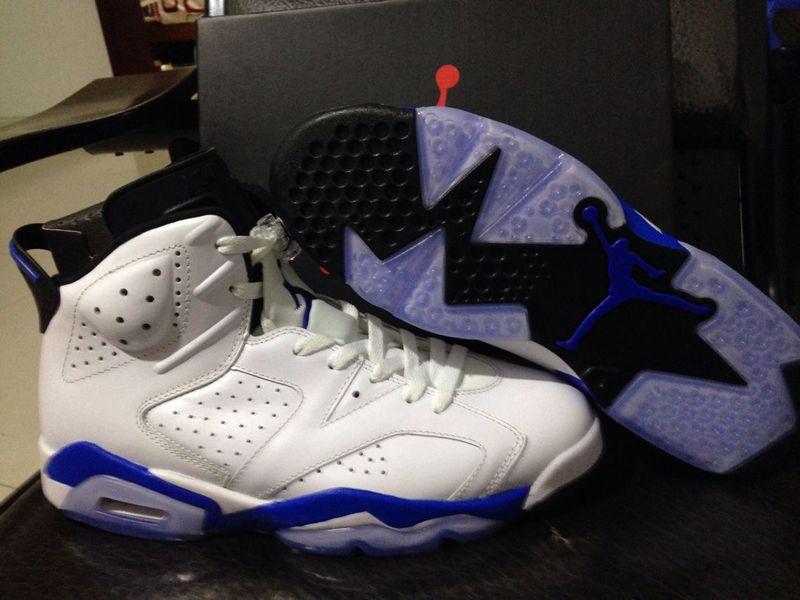 2015 Air Jordan 6 OG Retro Sport Blue Shoes