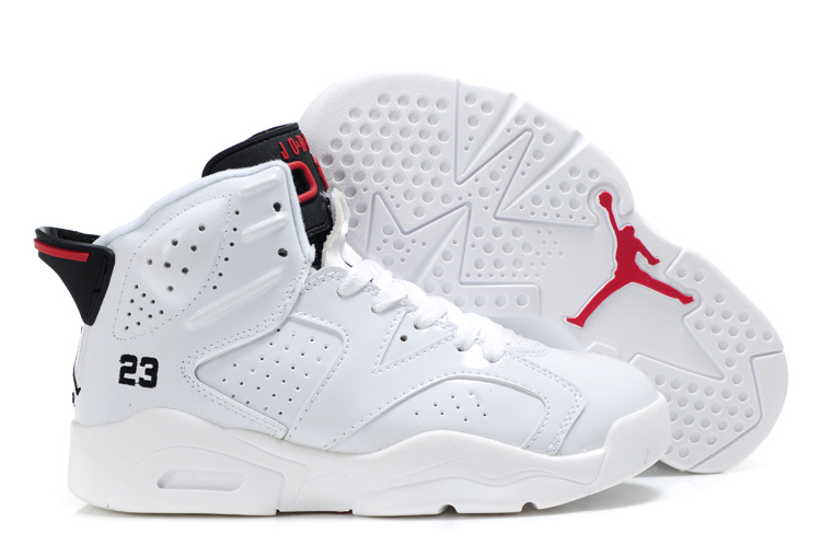 Air Jordan 6 White For Kids