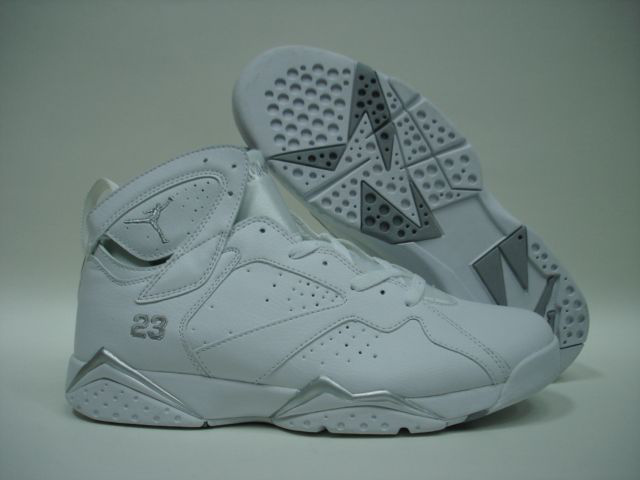 Air Jordan 7 All White Shoes
