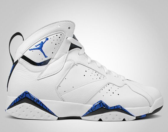 Air Jordan 7 White Blue Shoes