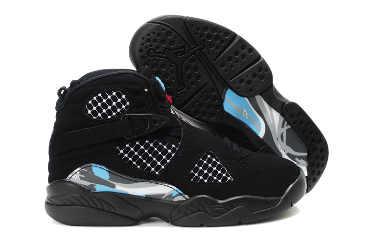 Air Jordan 8 Black For Kids